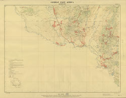 German East Africa. [Showing the districts of Korogwe, Moa, Tanga and Wilhelmstal.]
